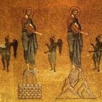 Les tentations du Christ. San Marco. Mosaïque, 12es