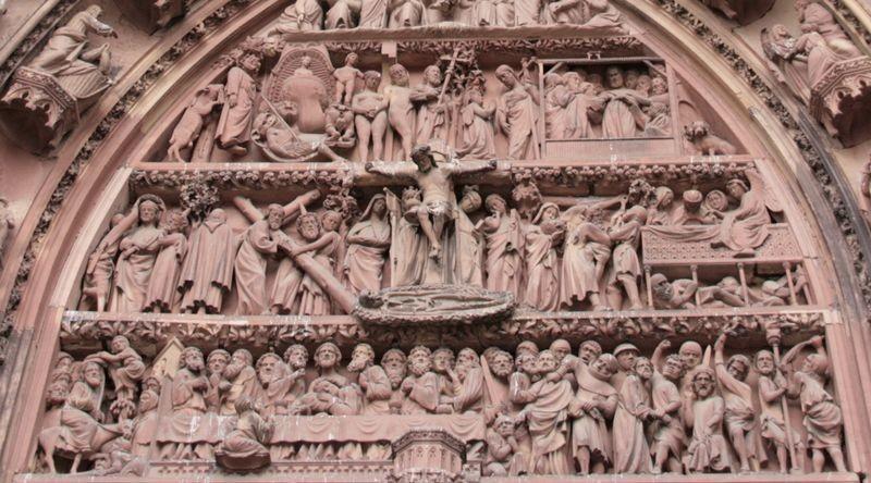 Tympan Ouest de la cathédrale de Strasbourg