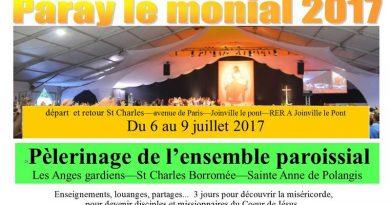 Pèlerinage paroissial à Paray : du 6 au 9 juillet 2017