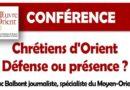 Conférence sur les Chrétiens d'Orient