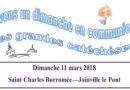La grande Catéchèse du 11 mars