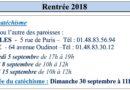 Dates de rentrée – Catéchisme