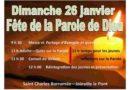 Saint-Charles, 26 janvier, dimanche de la Parole de Dieu