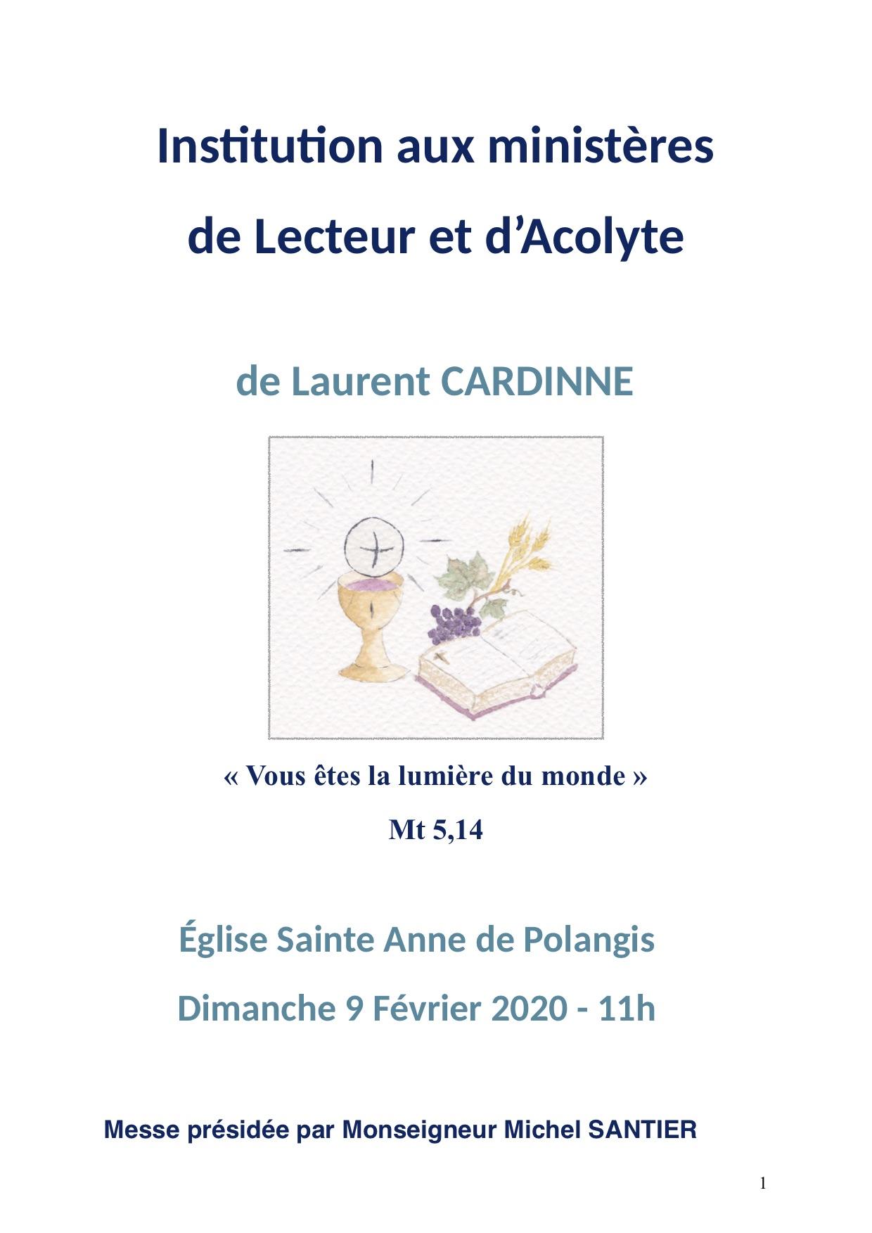 Institutions de Laurent Cardinne