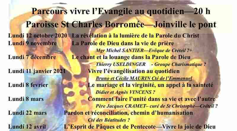 Saint-Charles. Parcours «Vivre l'évangile au quotidien»