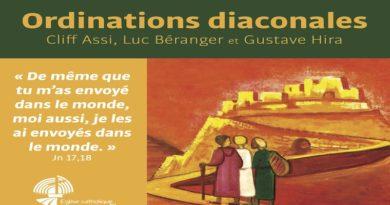 Ordination diaconale de Cliff ASSI le 16 mai